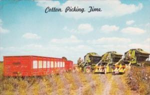 Cotton Picking Time Modern Cotton Pickers