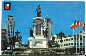 Chile, Valparaiso, Monumento a los Heroes de Iquique, 1979 used Postcard