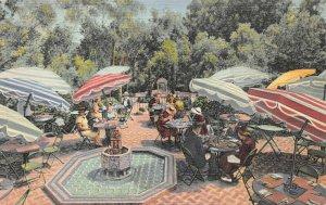 Cafe Del Rey Moro, Balboa Park, San Diego, CA, early postcard, unused