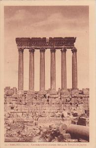 Les 6 Dernieres Colonnes Des 54 Du Temple De Jupiter, Baalbek, Lebanon, 1900-...