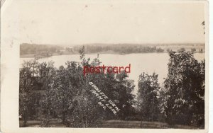 1912? ARMY LAKE WI Birds Eye View, RPPC, mailed to Mrs Louis Fruelich