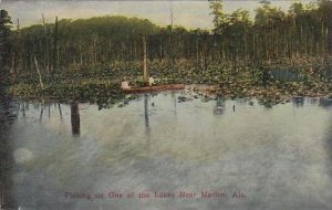 Alabama Marion Fishing On One Of The Lakes Near Marion
