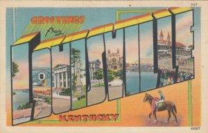 Large Letter Greetings LOUISVILLE, Kentucky, 1930-40s