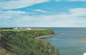 Scenic View of the Lighthouse, Scalped Edge, Gaspe Nord, Quebec, Canada, PU-1988