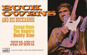 Nevada Las Vegas John Ascuage's Nugget Buck Owens And His Buckaroos Circus Ro...