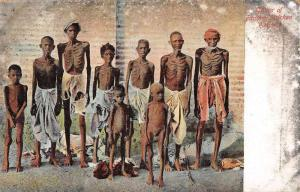 India Famine Stricken Victims Vintage Postcard JD228146