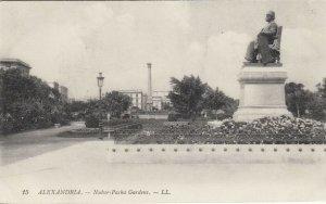 ALEXANDRIA, Egypt, 1900-10s; Nubar-Pacha Gardens