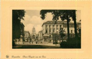 Belgium Brussels Bruxelles Place Royale vue du Parc