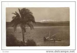 RP: Fisherman on Sea of Galilee, Mt Hermon,1933 , PU Palestine