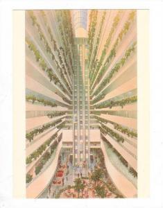 Internal Attrium of the HILTON International, Brisbane, Australia, 50-70s