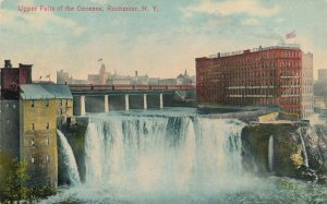 Upper Falls of the Genesee - Rochester NY New York - Nice Signage - pm 1910 - DB
