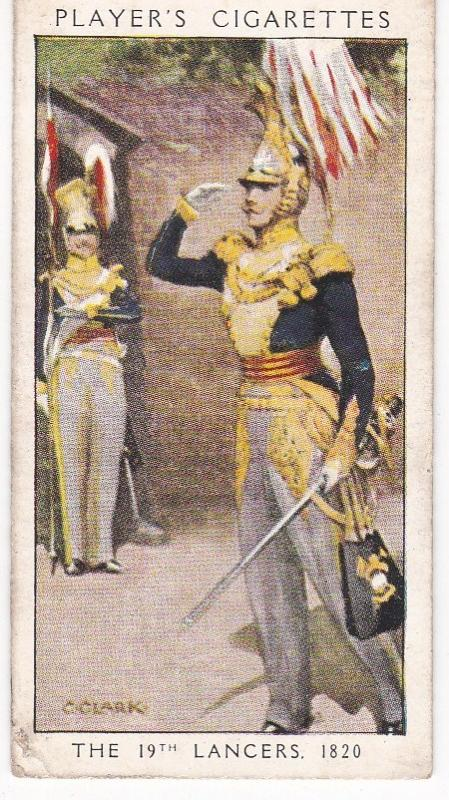 Cigarette Card Player's Dandies No 38 The 19th Lancers