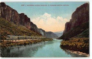 Southern Pacific Train No. 2, Palisade Canyon, Nevada - c1910 Postcard