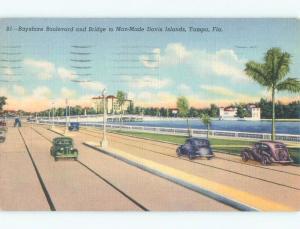 Linen BRIDGE TO DAVIS ISLANDS Tampa Florida FL d4684