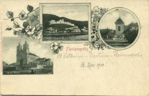 brazil, FLORIANOPOLIS, Hospital Menino Deus, Igreja Matriz (1900) Postcard Stamp