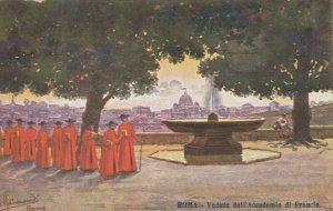 ROMA , Italy , 1900-10s ; Veduta dall'Accademia di Francia