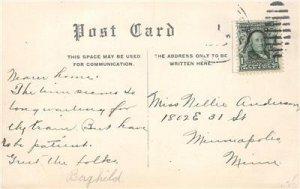 Mill Pond, Sauk Centre, Minnesota 1908 Vintage Postcard