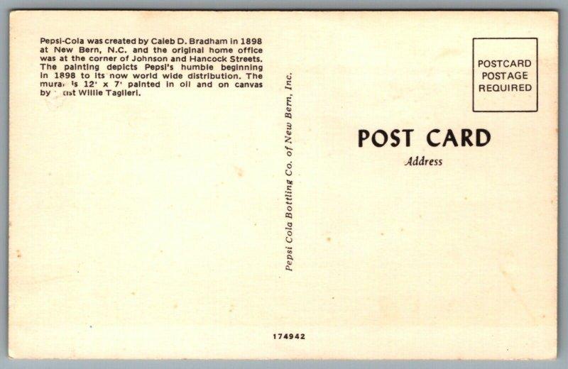 1983 Pepsi-Cola New Bern N.C. Post card P2