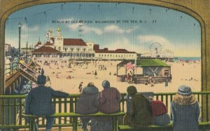 WILDWOOD BY THE SEA , New Jersey, 1930-40s ; Beach at Ocean Pier
