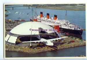 LN1116 - Cunard Liner - Queen Mary , built 1936 - postcard at Long Beach