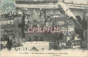 Old Postcard Lyon Panoramic View (The Cathedral and the Pont Tilsit