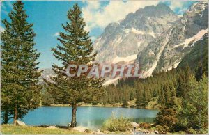 Old Postcard The Alps in natural colors Lac High mountain trout