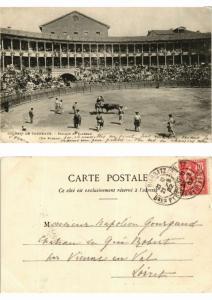 CPA Bullfighting - Courses de Taureaux - Picador et Taureau (776041)