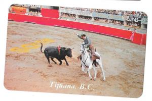 Mexico Bullfight Tijiuana Bullring Matador Baja CA Postcard