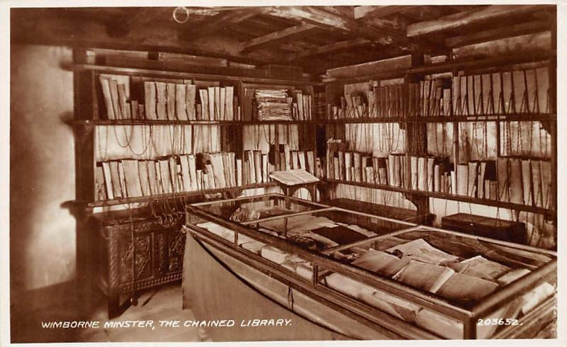Wimborne Minster, The Chained Library Interior 1943