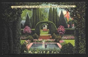 Crowell Gardens Augusta Georgia Unused c1930s