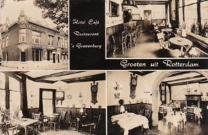 Netherlands Rotterdam Hotel Cafe Restaurant Gravenburg Real Photo