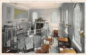 Rockland Maine~Security Trust Bank~Interior Savings Department Deposit Box~1910