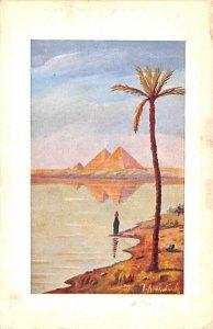River Egypt, Egypte, Africa Writing on back