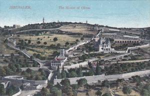 JERUSALEM, Israel, 1900-1910's; The Mount of Olives