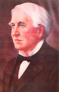 Post Card Old Vintage Antique Thomas Alva Edison (1847 - 1931) Unused