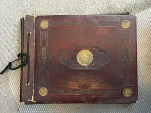 Antique Postcard Album Scrapbook Samuel Ward