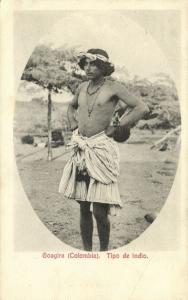 colombia, Native Goagira Indian Male, Tipo de Indio (1910s) Dugand