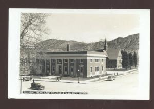 RPPC CEDAR CITY UTAH DOWNTOWN COURT HOUSE OLD CARS REAL PHOTO POSTCARD
