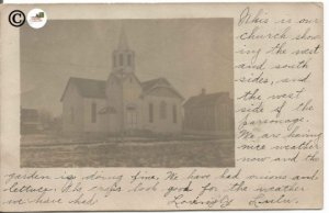 Unknown Church Sender References it as Our Church 1900-1906 Undivided Back