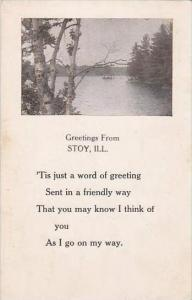 Illinois Stoy Greetings From Stoy 1914