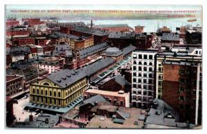 Early 1900s Panoramic View of Boston, MA Postcard