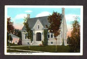 ME CARY Public Library HOULTON MAINE POSTCARD PC