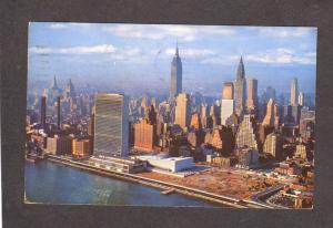 NY Empire State Building Bldg UN Chrysler New York City Postcard NYC