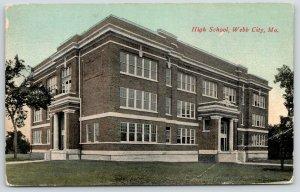 Webb City Missouri~High School~Fancy Roof Lines~c1910 4 C's Wheelock Postcard