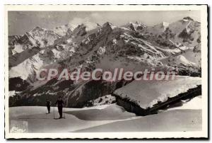 Old Postcard The Contamines Montjoie valley tr-the-head