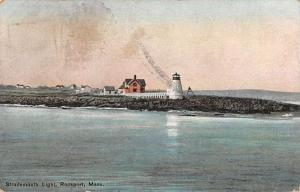 Rockport Massachusetts Straitsmouth Lighthouse Scenic View Postcard J927067