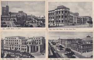 Bari Teatro Liceo Orazio Flacco Castello Federico 4x Old Italy Postcard s