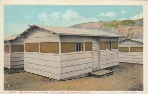 YELLOWSTONE PARK, Wyoming, 1900-10s; Mammoth Hot Springs Lodge Cabin