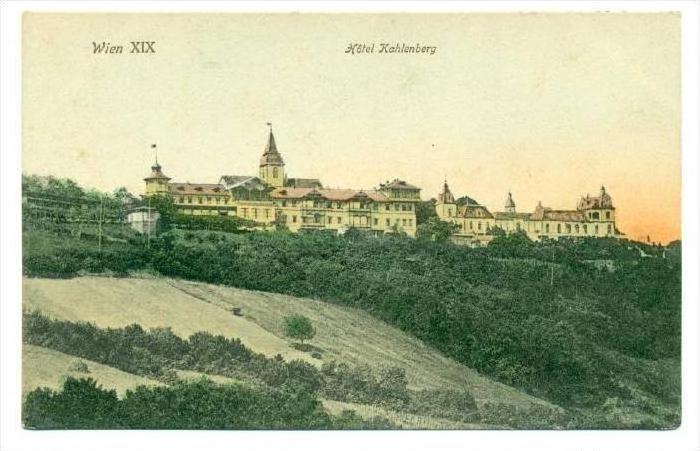 Wien Xix Hotel Kahlenberg Austria 00 10s Hippostcard