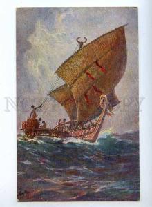 189503 GERMAN COLONIES Ship South Sea by BOHROT Vintage PC